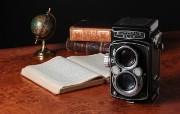 1953年的奥林巴斯古董相机 Olympus Cameras Flex B II Olympus 奥林巴斯70年经典相机壁纸上辑 广告壁纸