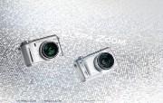 2003年的奥林巴斯数码相机 Olympus Digital Cameras C 750 Olympus 奥林巴斯70年经典相机壁纸上辑 广告壁纸