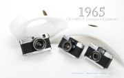 Olympus 奥林巴斯相机纪念壁纸 三 奥林巴斯相机 1965 Oplympus Compact Cameras Olympus 奥林巴斯相机三 广告壁纸