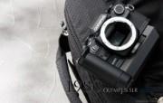 Olympus 奥林巴斯相机纪念壁纸 三 奥林巴斯SLR单反相机 1980 Oplympus SLR Camera Olympus 奥林巴斯相机三 广告壁纸