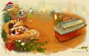 Pizzahut 广告 卡通插画壁纸 下午茶时间 Pizzahut 精美广告壁纸 Pizzahut广告卡通插画壁纸 广告壁纸