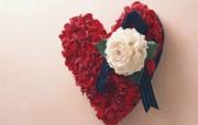 心形图片 心形鲜花 插花艺术祝福的花饰 花卉壁纸