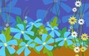电脑花卉绘画 电脑花卉绘画 花卉壁纸