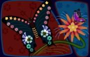 电脑CG花卉插画 电脑花卉绘画 花卉壁纸