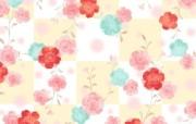 甜美系 漂亮碎花图案设计 美丽碎花布 之 粉红甜美系 花卉壁纸