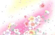 美丽碎花布 之 粉红甜美系 花卉壁纸