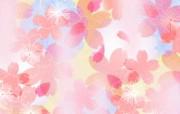 甜美系 樱花碎花图案设计 美丽碎花布 之 粉红甜美系 花卉壁纸