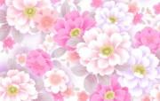 甜美系 碎花花卉图案设计 美丽碎花布 之 粉红甜美系 花卉壁纸