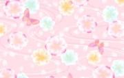 甜美系 碎花布背景图案设计 美丽碎花布 之 粉红甜美系 花卉壁纸