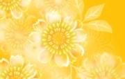 金黄色花卉背景图案设计 美丽碎花布 之 简洁淡雅系 花卉壁纸