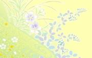 淡雅系 花卉背景图案设计 美丽碎花布 之 简洁淡雅系 花卉壁纸