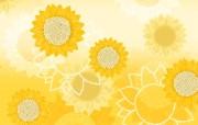 向日葵 花卉图案背景图片 美丽碎花布 之 简洁淡雅系 花卉壁纸