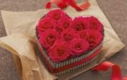 心形玫瑰 布艺仿真花卉图片 1920 1200 温馨布艺仿真花卉壁纸 花卉壁纸