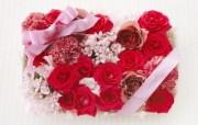 玫瑰爱意 温馨花卉装饰图片 温馨布艺仿真花卉壁纸 花卉壁纸