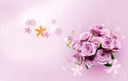 宽屏合成花卉 花卉壁纸