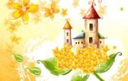 艺术风格花卉图案插画设计 花卉插画 花卉设计插图 1600 1200 艺术风格花卉图案插画设计第二集 花卉壁纸