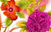 艺术风格花卉图案插画设计 花卉绘画 艺术花卉图案设计 1600 1200 艺术风格花卉图案插画设计第二集 花卉壁纸