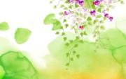 艺术风格花卉图案插画设计 淡雅花卉图案插画 1600 1200 艺术风格花卉图案插画设计第二集 花卉壁纸