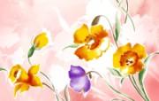 艺术风格花卉图案插画设计 艺术风格花卉背景图片 1600 1200 艺术风格花卉图案插画设计第二集 花卉壁纸