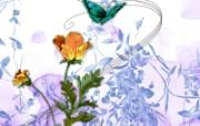 艺术风格花卉图案插画设计 艺术风格 花卉设计插图 1600 1200 艺术风格花卉图案插画设计第二集 花卉壁纸