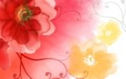 艺术风格花卉图案色彩 花卉壁纸