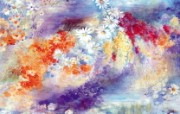 水彩花卉绘画 水彩花卉图案 艺术风格花卉图案色彩 花卉壁纸