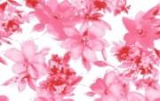 花卉背景布纹图案 艺术风格花卉图案色彩 花卉壁纸