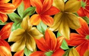 艺术风格花卉图案壁纸 艺术风格花卉图案色彩 花卉壁纸