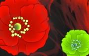 中国风水彩花卉绘画壁纸 艺术风格花卉图案色彩 花卉壁纸