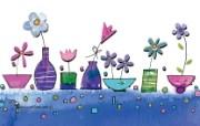 花卉图案设计 可爱花卉插画壁纸 艺术与抽象花卉壁纸 花卉壁纸