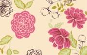 花卉图案设计 抽象花卉插画壁纸 艺术与抽象花卉壁纸 花卉壁纸