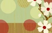 花卉图案设计 日本樱花插画壁纸 艺术与抽象花卉壁纸 花卉壁纸