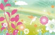 花卉图案设计 抽象花卉图案壁纸 艺术与抽象花卉壁纸 花卉壁纸