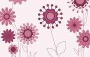 抽象花卉图形壁纸 抽象花卉图案设计 艺术与抽象花卉壁纸 花卉壁纸