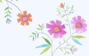 艺术花卉图案壁纸 花卉插画壁纸 艺术与抽象花卉壁纸 花卉壁纸