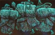 藏族祥巴版画 壁纸1 藏族祥巴版画 绘画壁纸