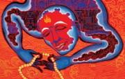藏族祥巴版画 壁纸8 藏族祥巴版画 绘画壁纸
