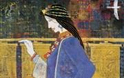 藏族祥巴版画 壁纸13 藏族祥巴版画 绘画壁纸