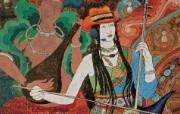 藏族祥巴版画 壁纸14 藏族祥巴版画 绘画壁纸