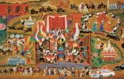 藏族祥巴版画 壁纸20 藏族祥巴版画 绘画壁纸
