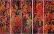 藏族祥巴版画 壁纸27 藏族祥巴版画 绘画壁纸