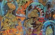藏族祥巴版画 壁纸30 藏族祥巴版画 绘画壁纸