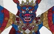 藏族祥巴版画 壁纸34 藏族祥巴版画 绘画壁纸