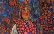 藏族祥巴版画 壁纸37 藏族祥巴版画 绘画壁纸