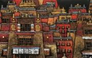 藏族祥巴版画 壁纸38 藏族祥巴版画 绘画壁纸
