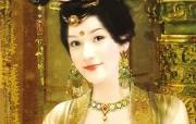 德珍绘画 古代女子绘画壁纸 德珍绘馆东方画姬霓裳 绘画壁纸