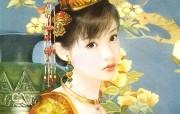 德珍绘画 清朝女子绘画壁纸 德珍绘馆东方画姬霓裳 绘画壁纸