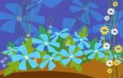 彩绘鲜花 绘画壁纸