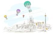 简笔城市风光 1 9 简笔城市风光 绘画壁纸