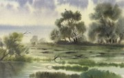 水彩景色 1 19 水彩景色 绘画壁纸